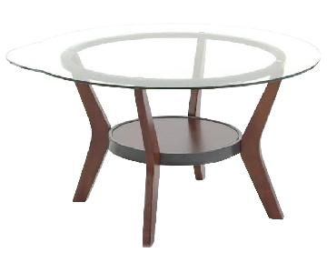 Ashley Glass Coffee Table + 2 End Tables