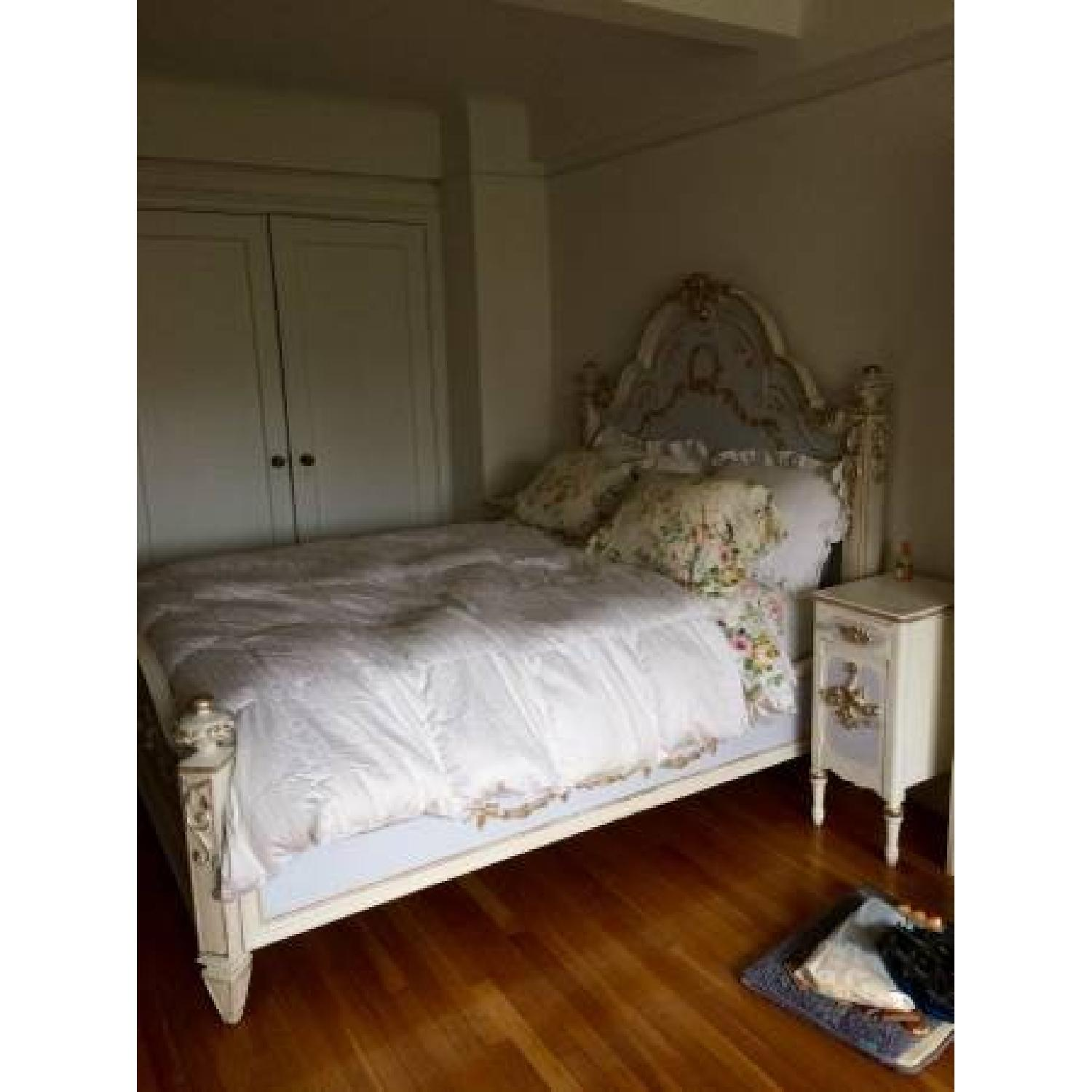 Custom Painted French Theme Queen Bed - image-1