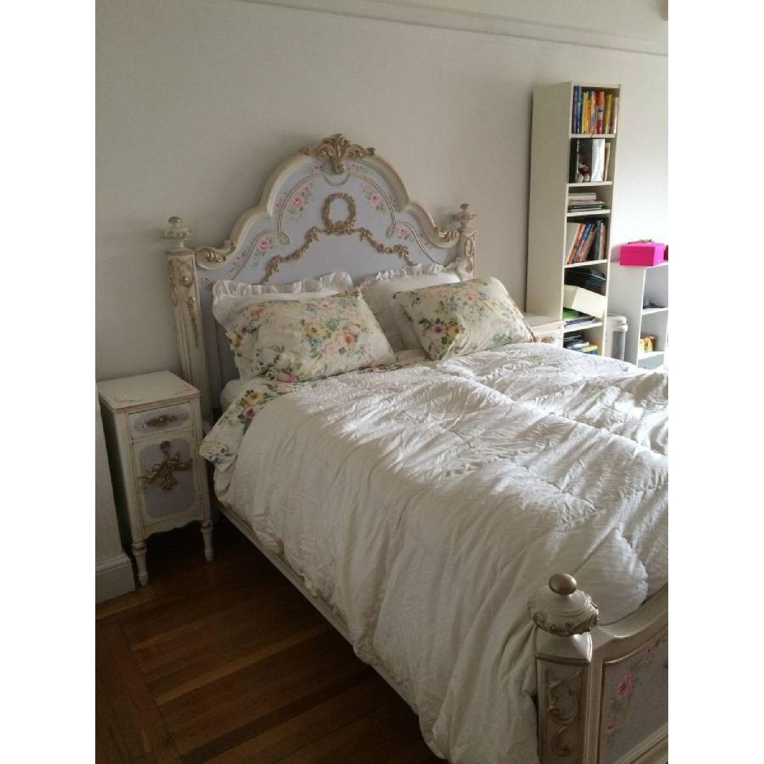 Custom Painted French Theme Queen Bed - image-3