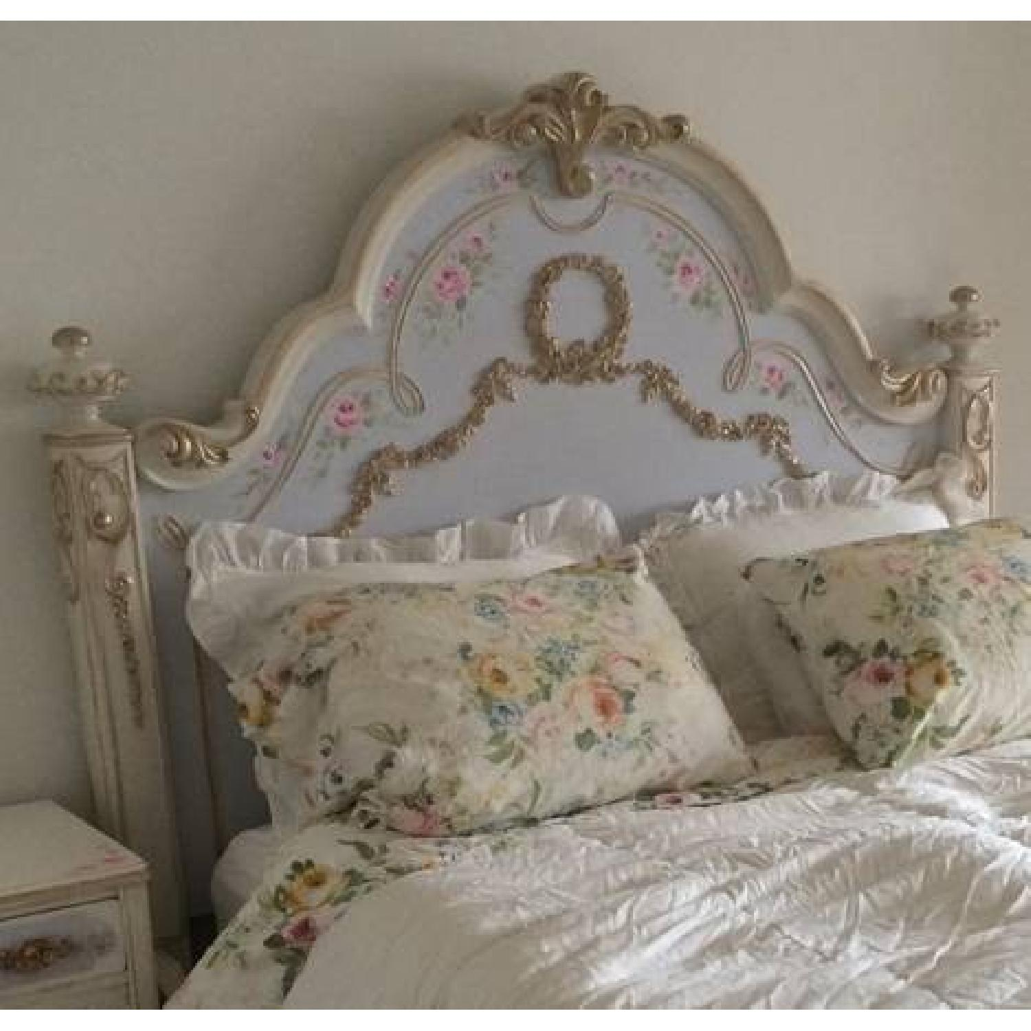 Custom Painted French Theme Queen Bed - image-4