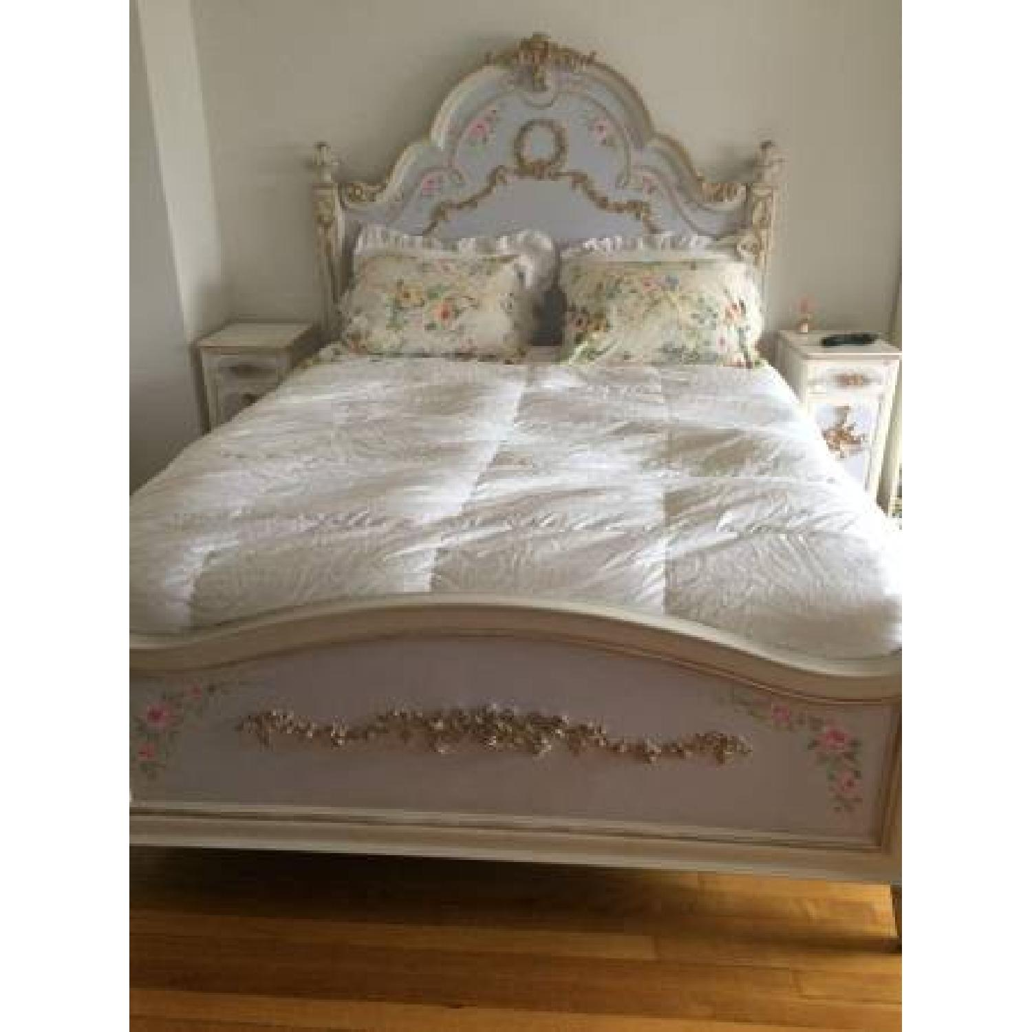 Custom Painted French Theme Queen Bed - image-5
