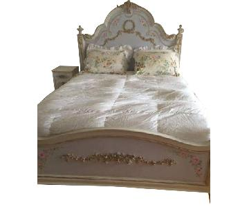 Custom Painted French Theme Queen Bed