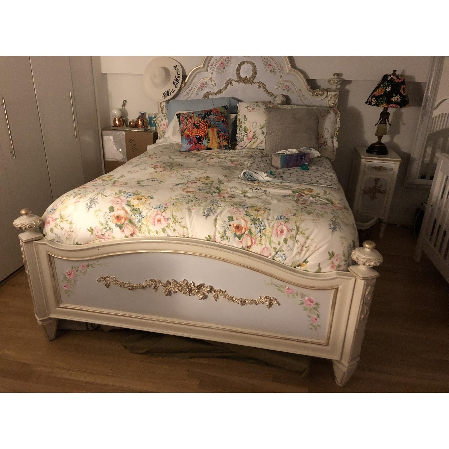 Custom Painted French Theme Queen Bed - image-6