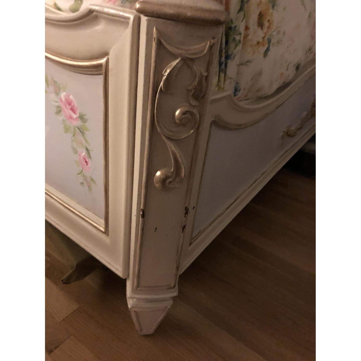 Custom Painted French Theme Queen Bed - image-8