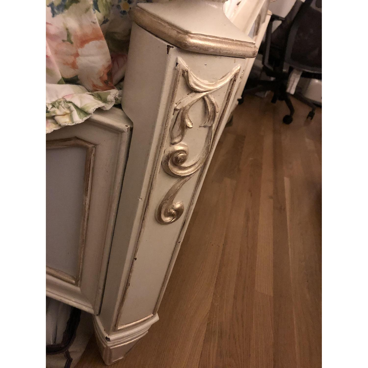 Custom Painted French Theme Queen Bed - image-9