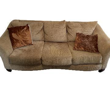Beige 3-Seater Sofa
