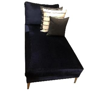 Ikea Custom Covered Midnight Blue Chaise