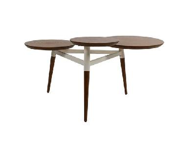 West Elm Clover Coffee Table in Walnut/White