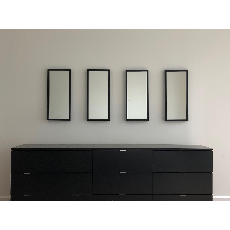 Crate & Barrel Black Metal Frame Wall Mirrors - image-1