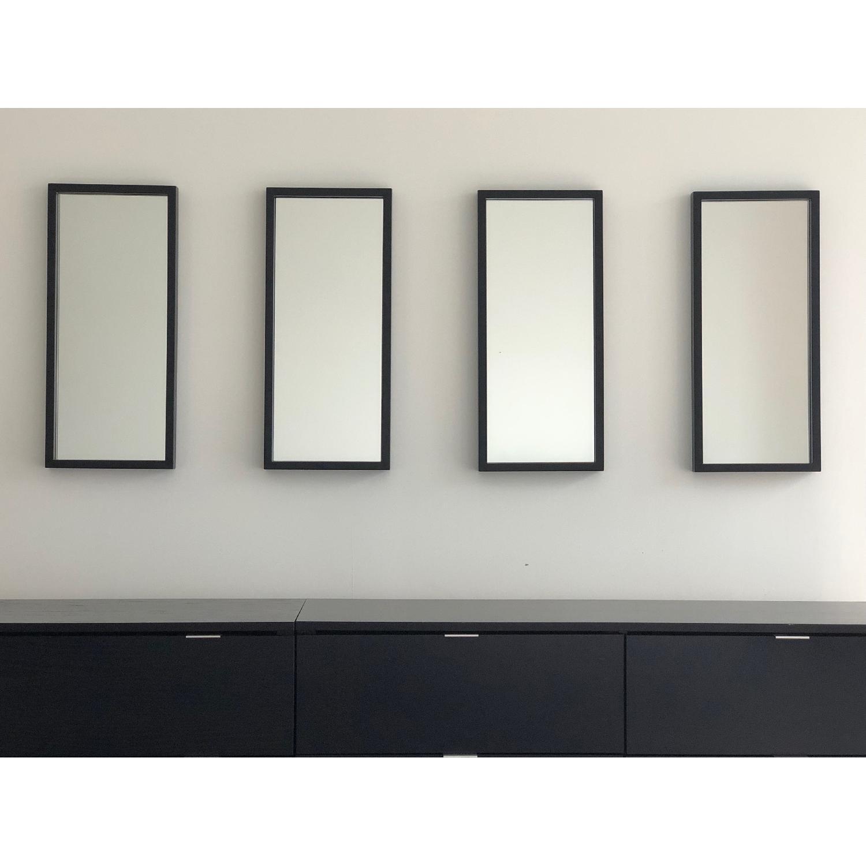 Crate & Barrel Black Metal Frame Wall Mirrors - image-2