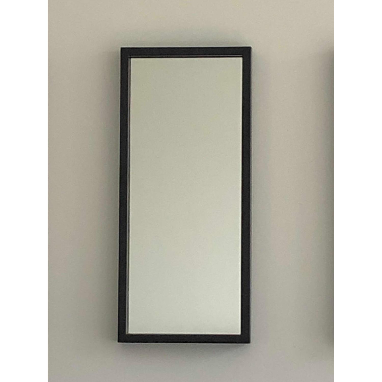 Crate & Barrel Black Metal Frame Wall Mirrors - image-3