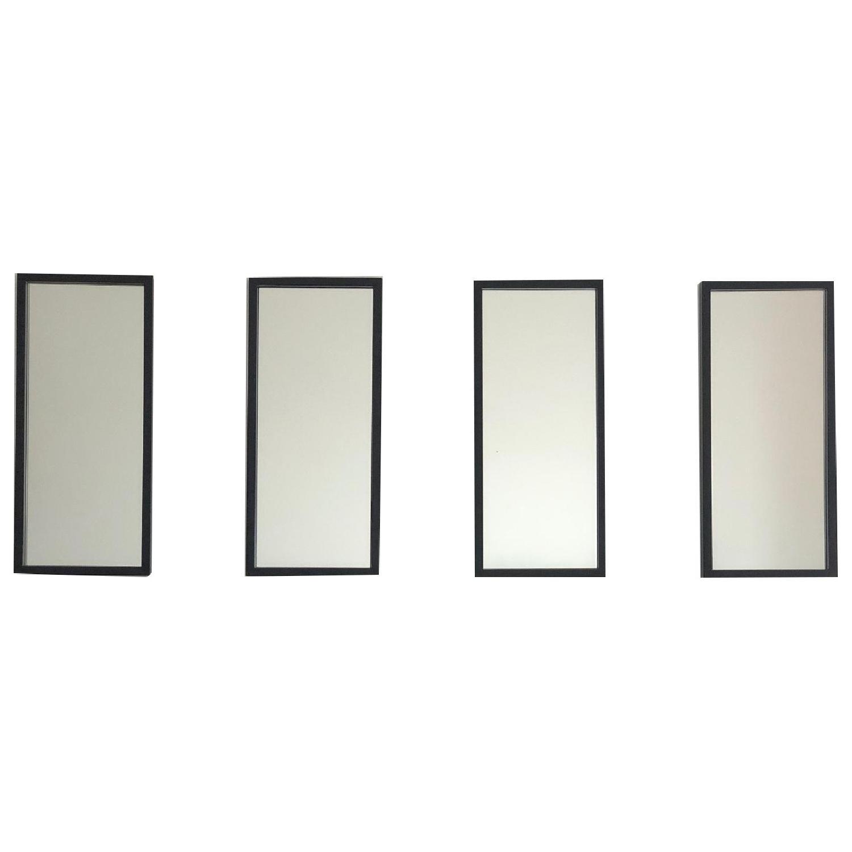 Crate & Barrel Black Metal Frame Wall Mirrors - image-0