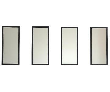 Crate & Barrel Black Metal Frame Wall Mirrors