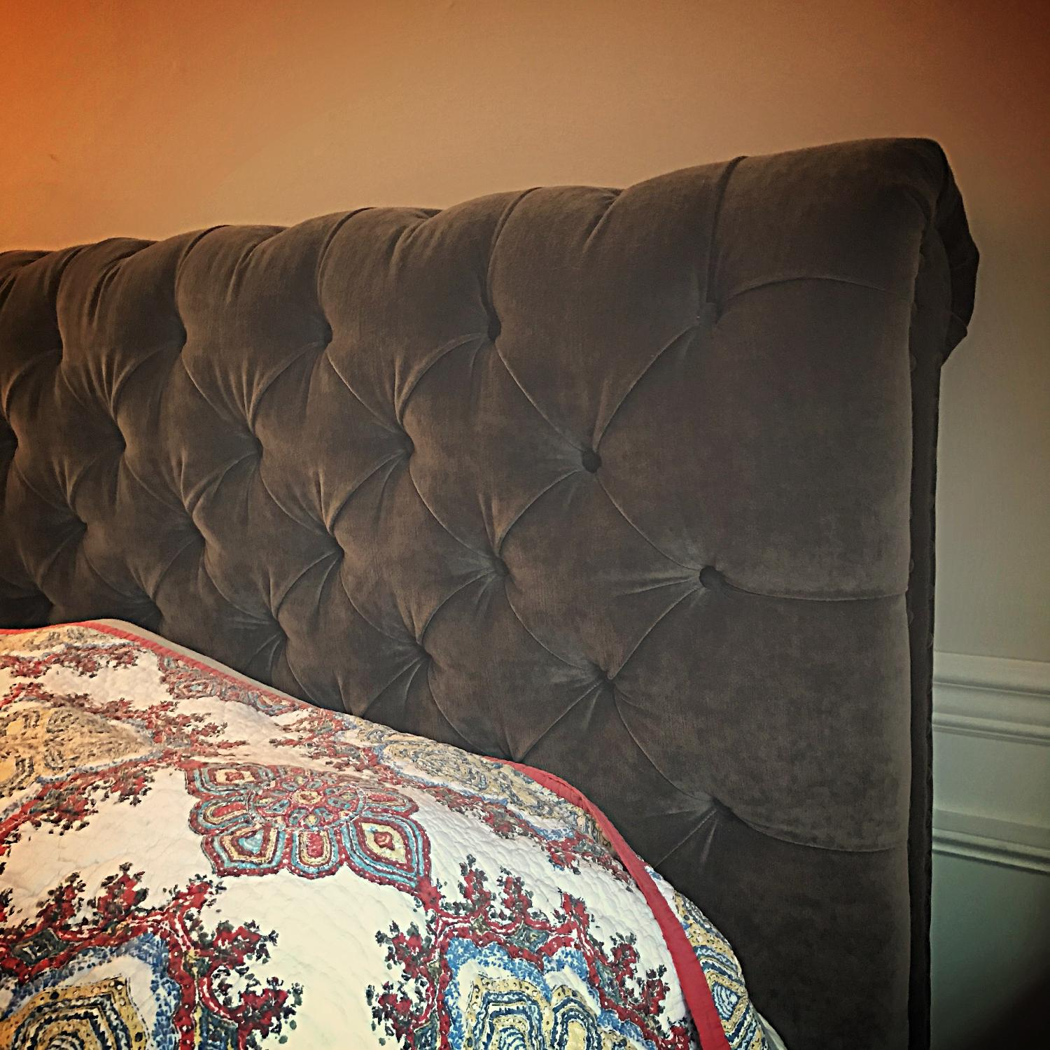 Pottery Barn Chesterfield Queen Size Storage Bed - image-7
