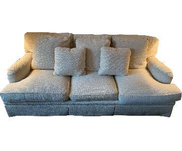 Baker Furniture Cream Slipcovered Sofa