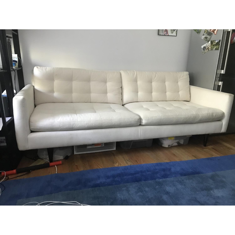 Crate & Barrel Petrie Mid Century Sofa in Beige - image-1