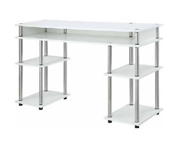 Convenience Concepts No Tools White Desk
