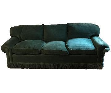 Avery Boardman Emerald Velvet Sofa