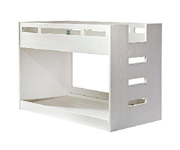 Crate & Barrel White Twin Bunk Bed