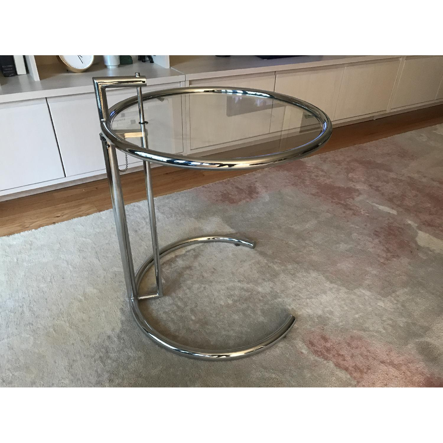 Eileen Gray Replica SIde Table in Silver - image-2