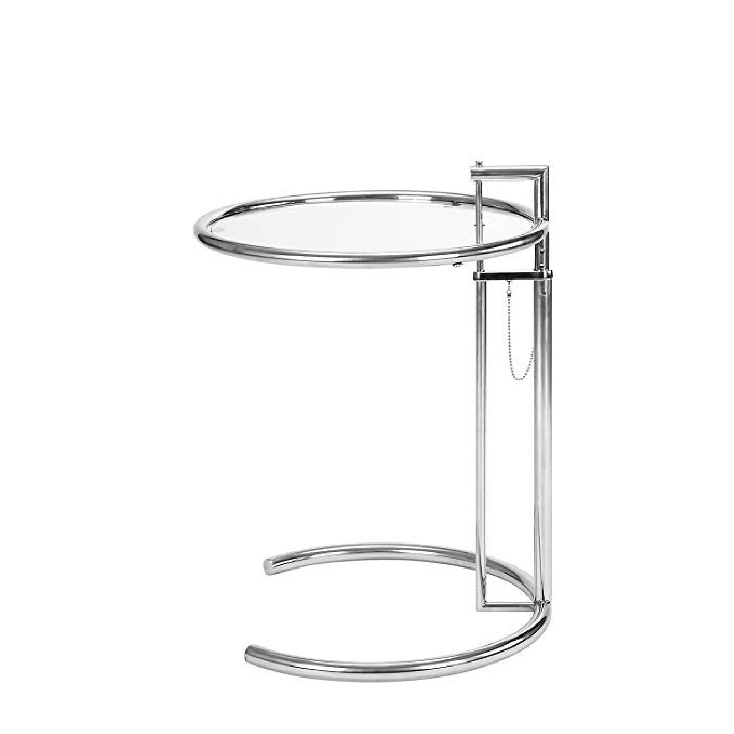 Eileen Gray Replica SIde Table in Silver - image-0