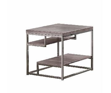 Withered Grey Contemporary Style End Table