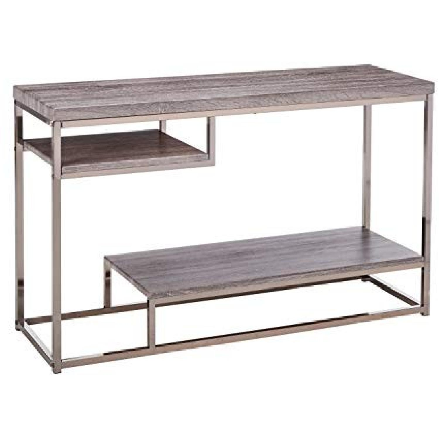 Withered Grey Contemporary Style Sofa Table - AptDeco