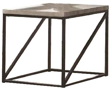 Sonoma Grey Industrial Style End Table