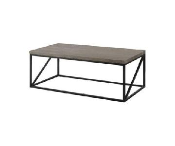 Sonoma Grey Industrial Style Coffee Table