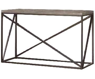 Sonoma Grey Industrial Style Sofa Table