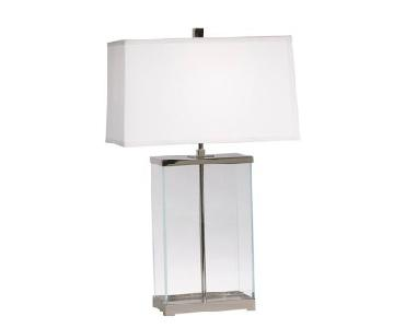 Ethan Allen Rectangular Glass Table Lamps