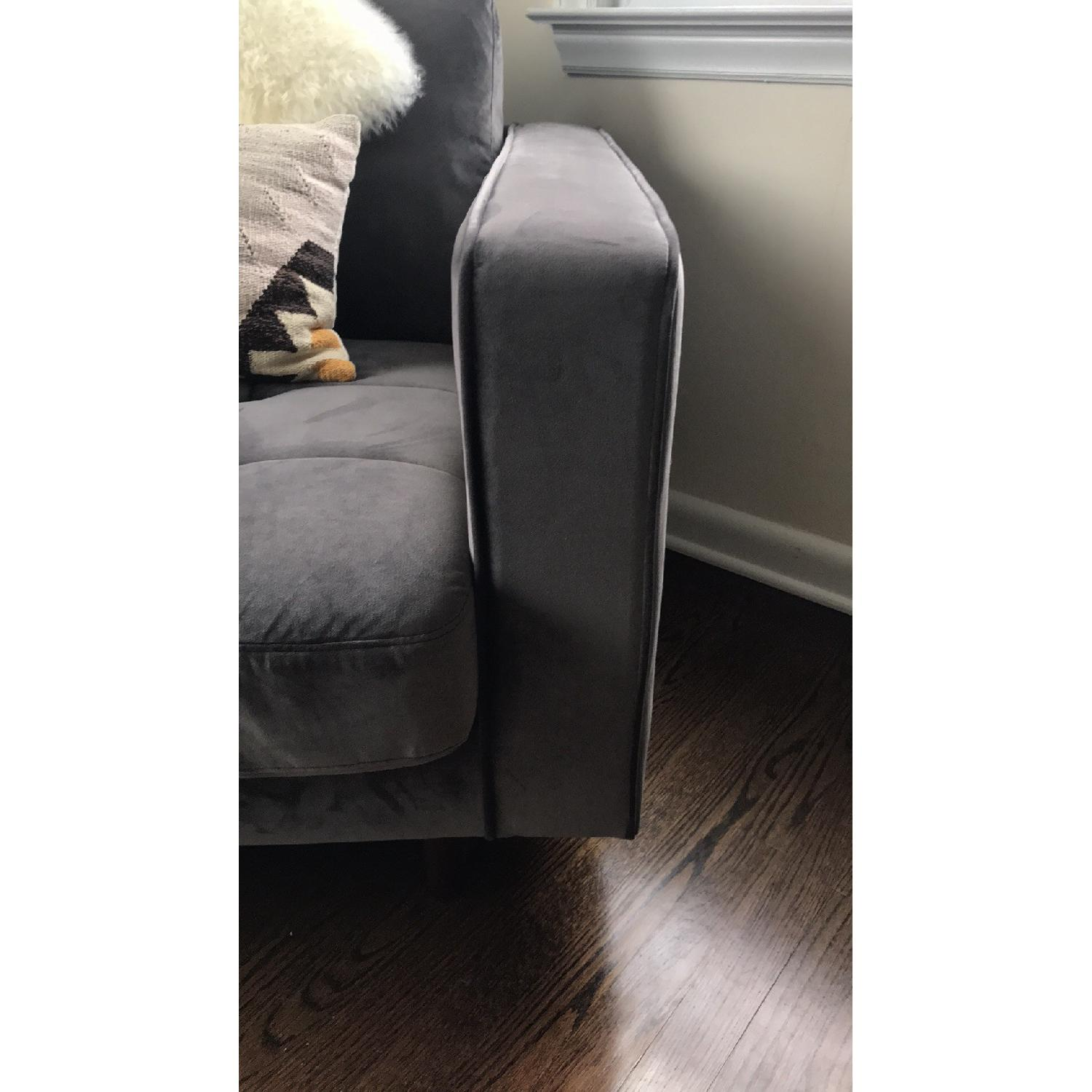 Poly and Bark Velvet Lounge Chair - image-4