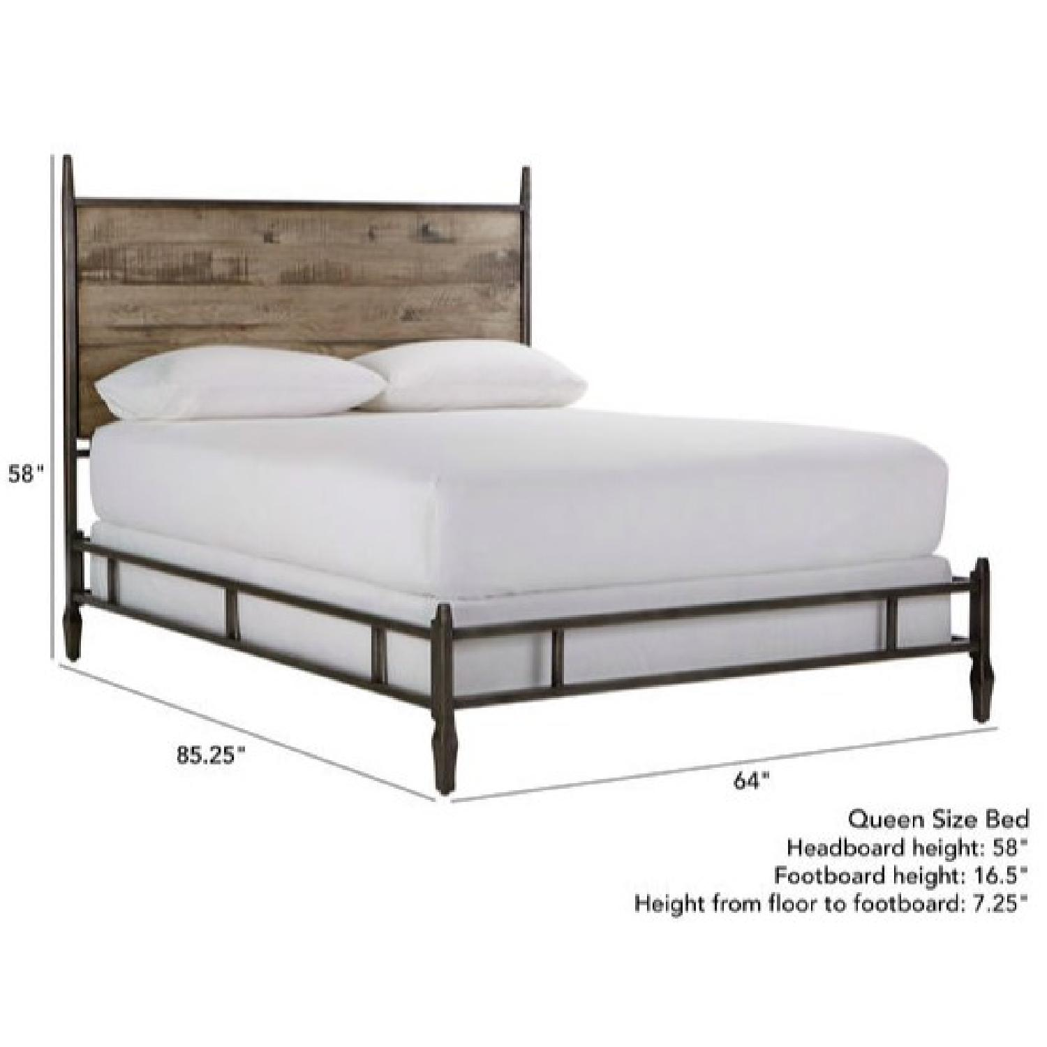 Ethan Allen Lincoln Queen Size Bed Frame w/ Headboard - image-0