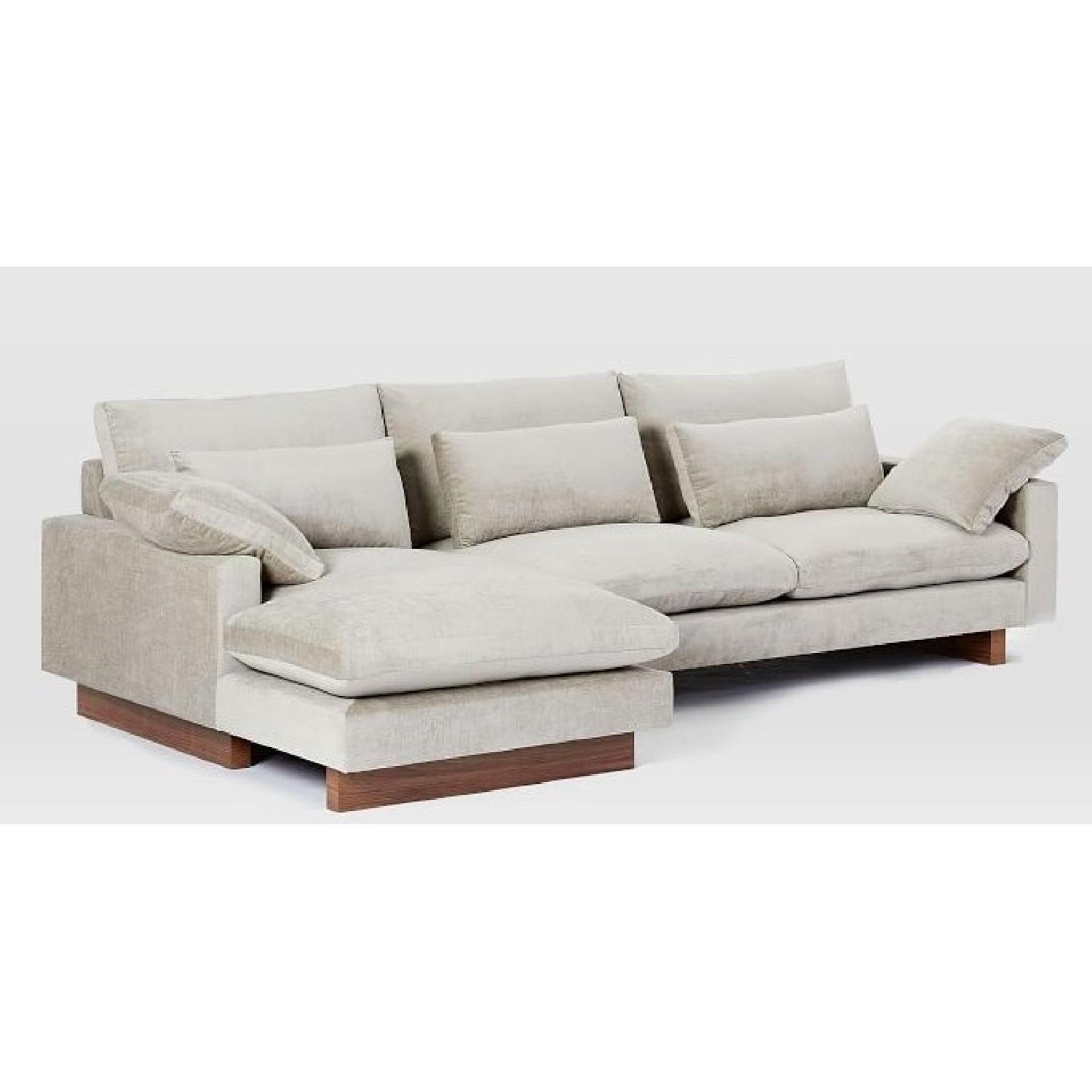 West Elm 2-Piece Large Chaise Sectional Sofa - image-2