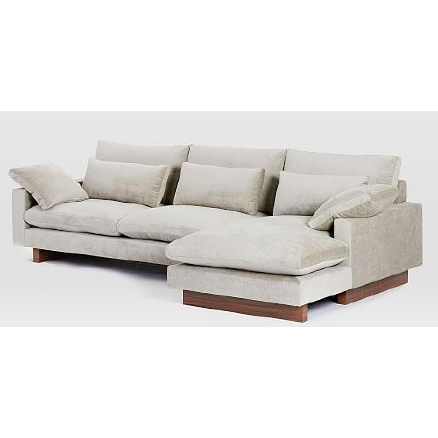 West Elm 2-Piece Large Chaise Sectional Sofa - image-3