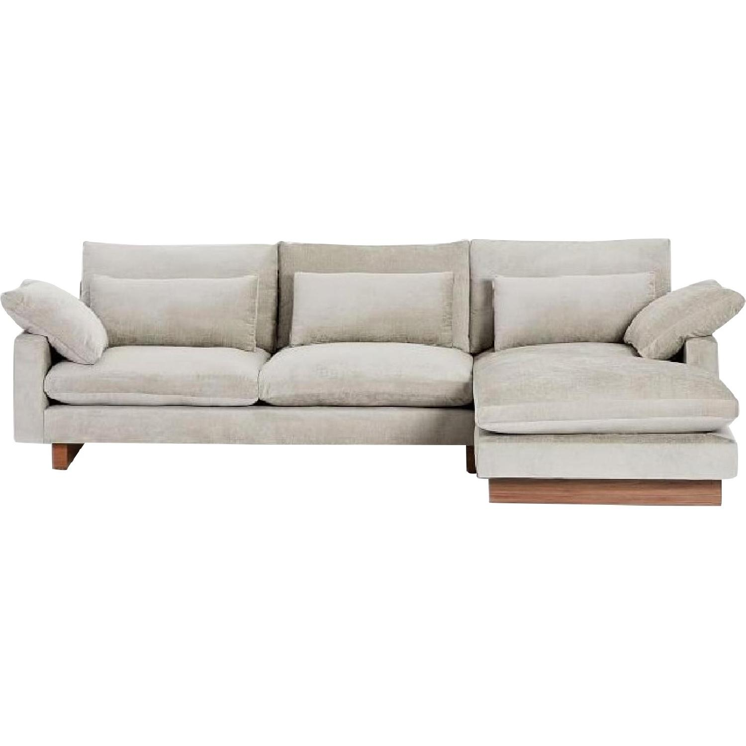 West Elm 2-Piece Large Chaise Sectional Sofa - image-0