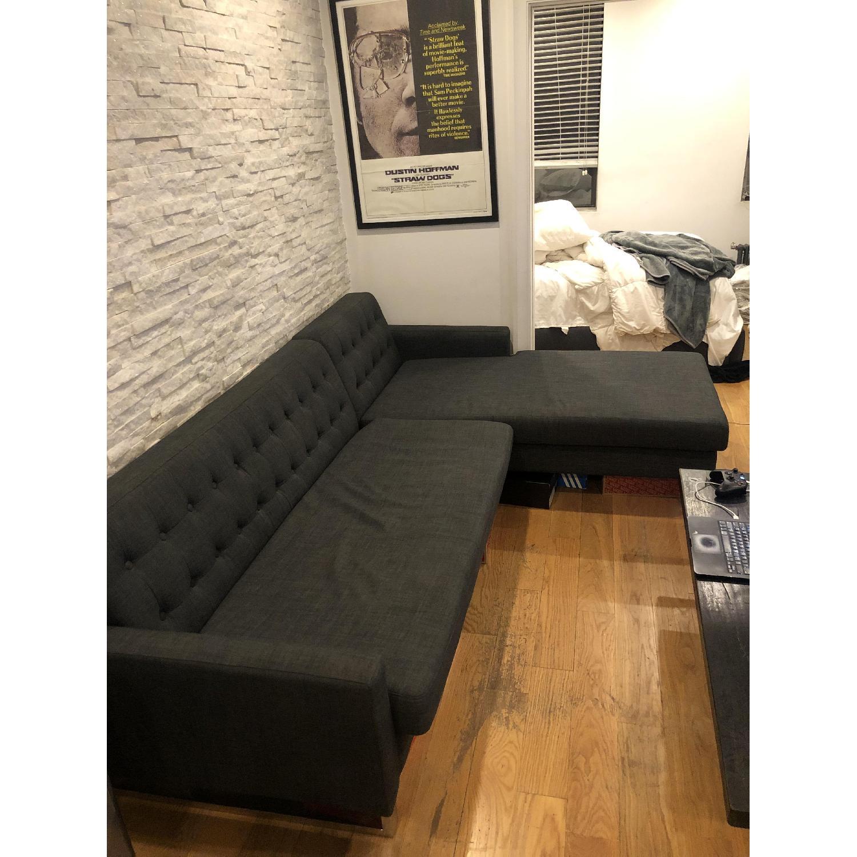 Pangaea Home & Garden Nolan Charcoal Left Arm Sectional Sofa - image-1