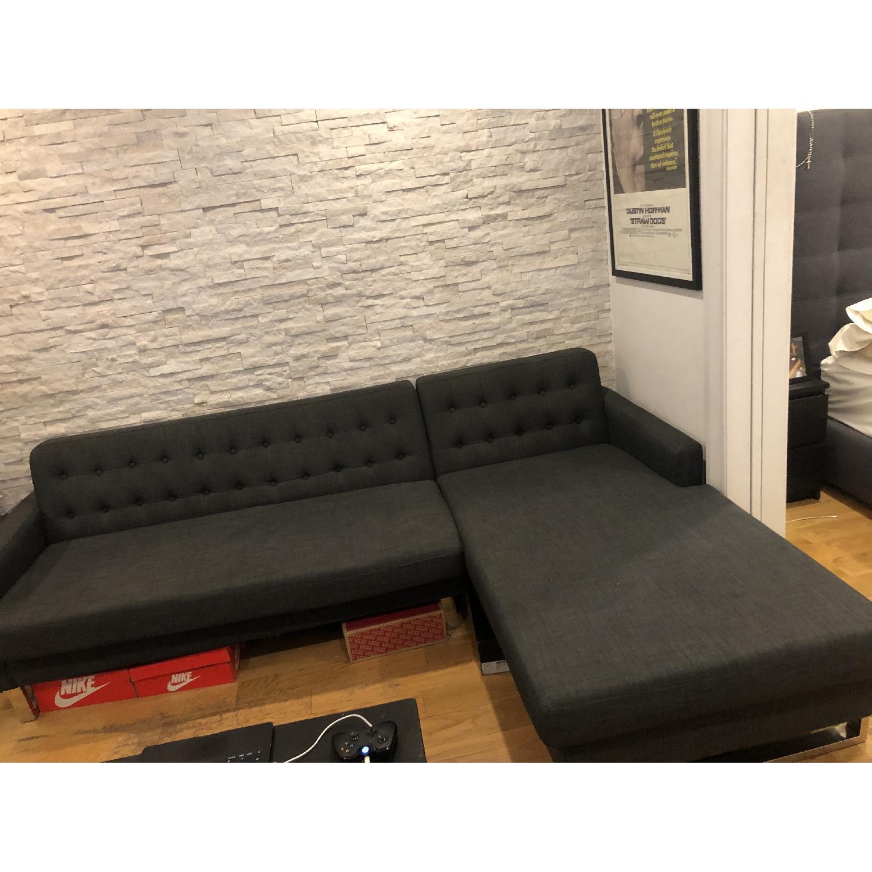 Pangaea Home & Garden Nolan Charcoal Left Arm Sectional Sofa - image-2
