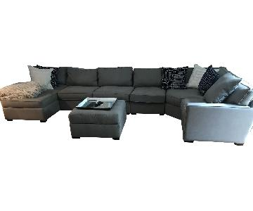 Macy's Radley 4-Piece Chaise Sectional Sofa