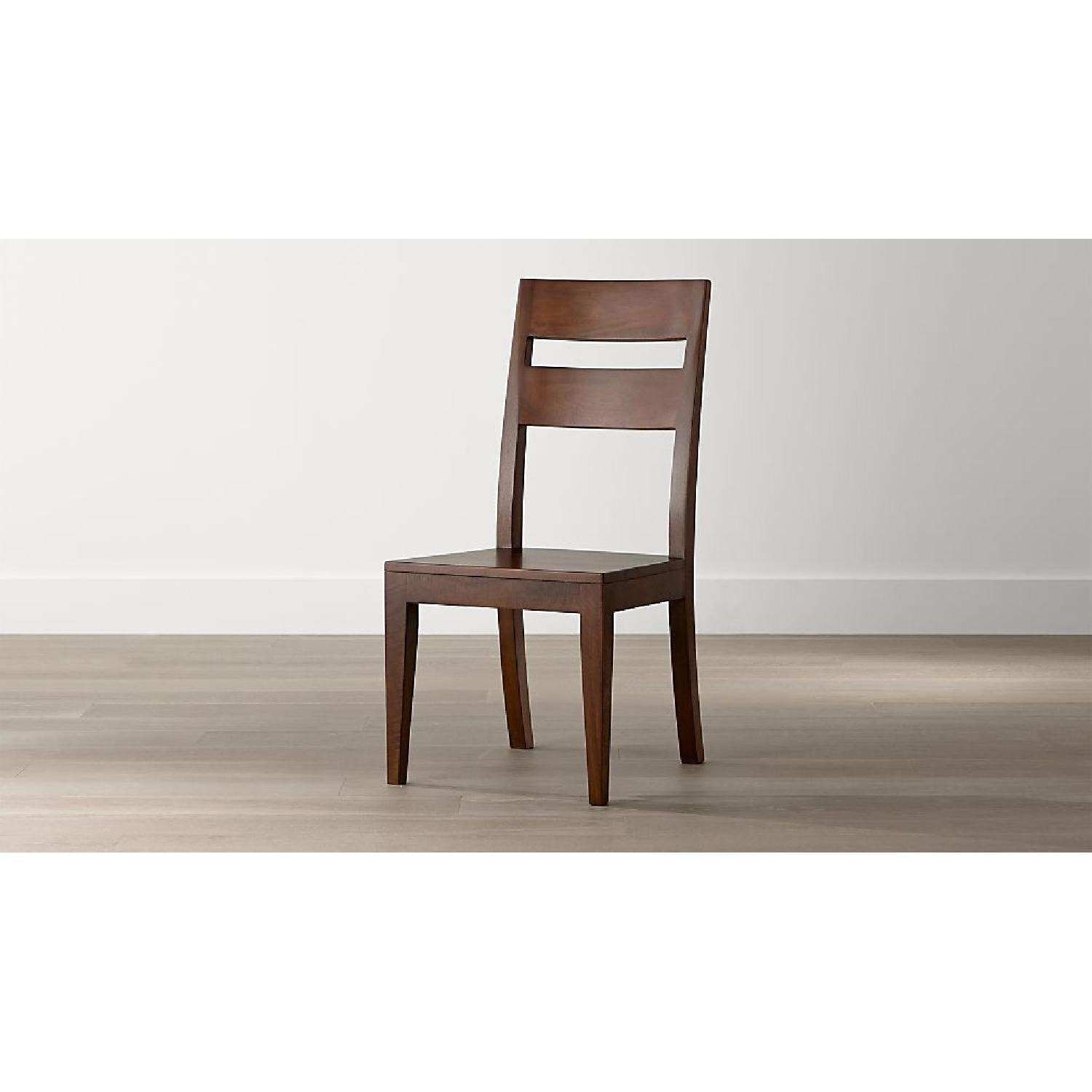 Crate & Barrel Basque Wood Dining Chairs - image-1