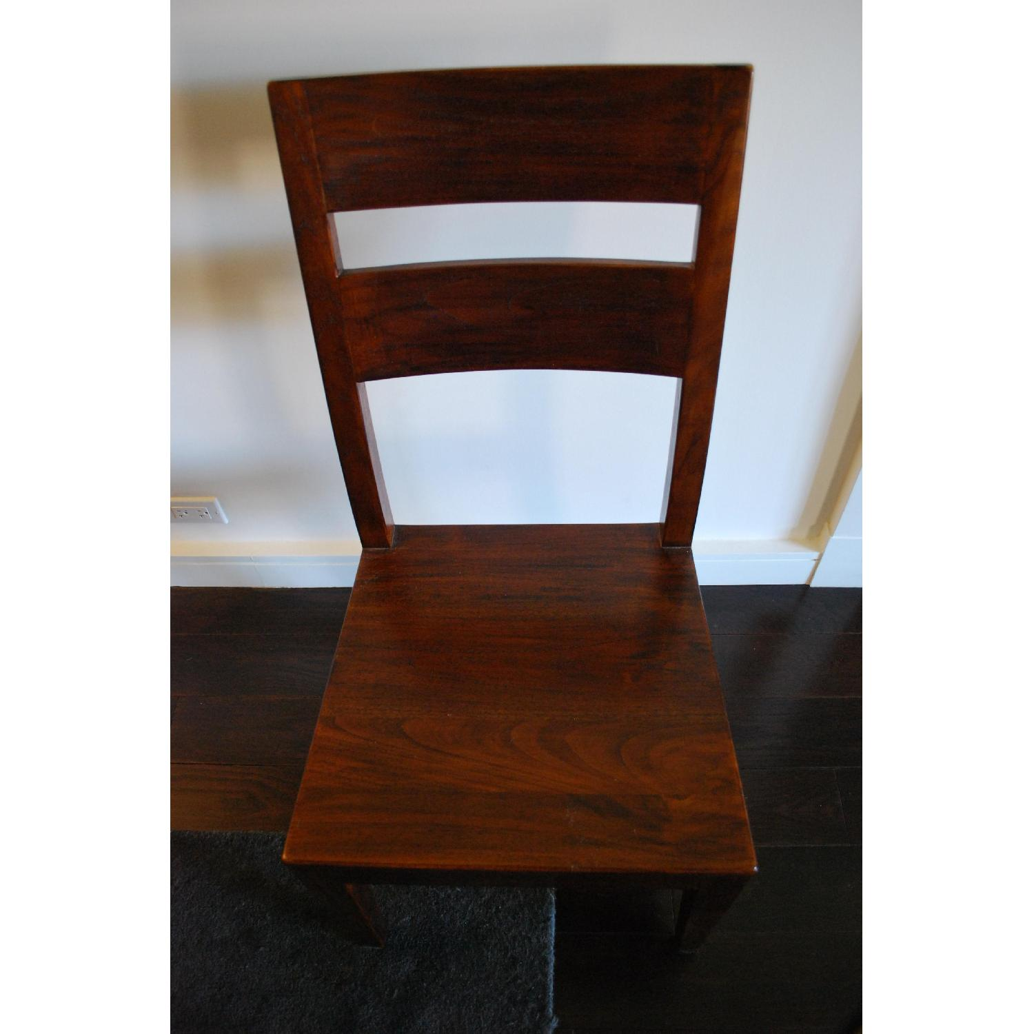 Crate & Barrel Basque Wood Dining Chairs - image-3