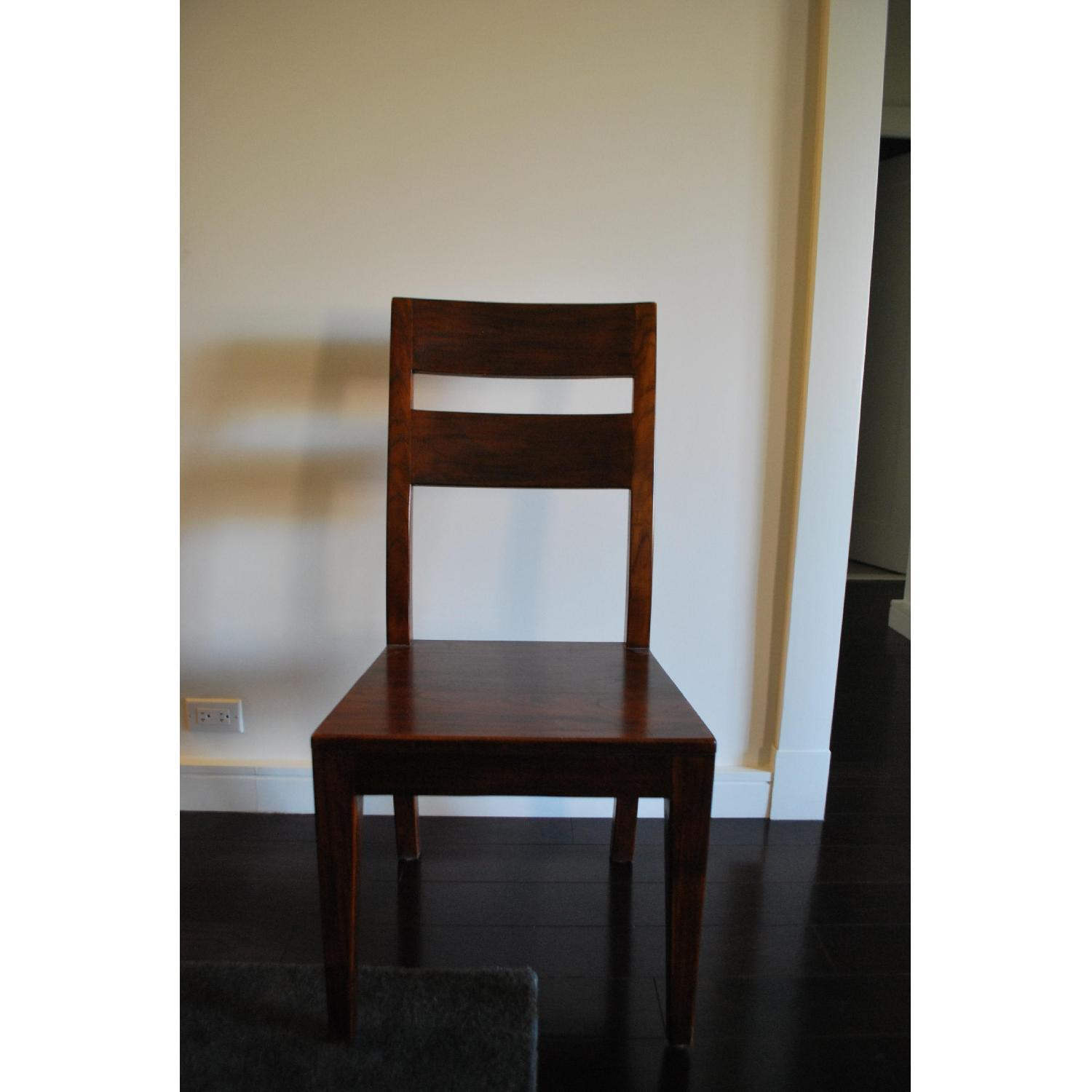 Crate & Barrel Basque Wood Dining Chairs - image-4