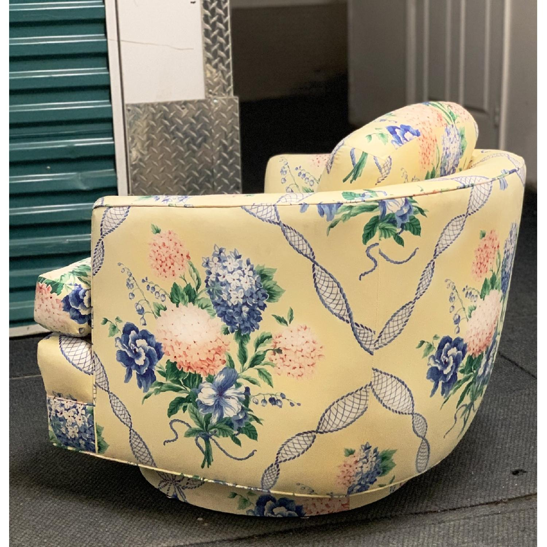 Brunschwig & Fils Floral French Swivel Club Chair - image-2