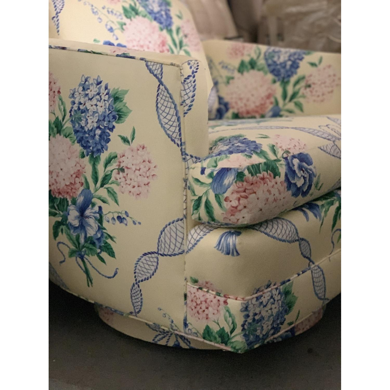 Brunschwig & Fils Floral French Swivel Club Chair - image-3