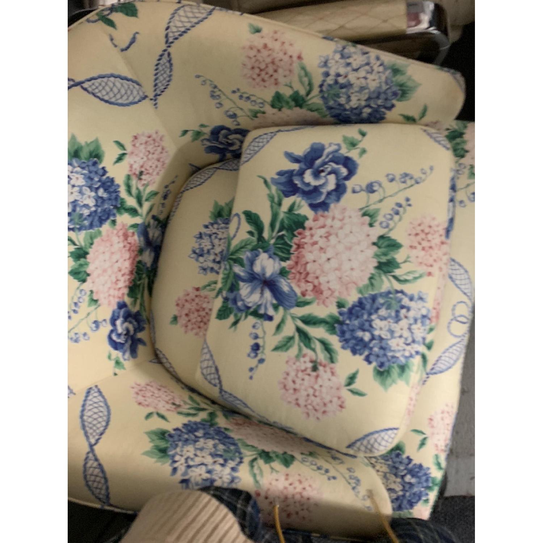 Brunschwig & Fils Floral French Swivel Club Chair - image-4