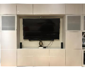 Ikea Besta TV Console/Media Unit w/ Customized Drawers