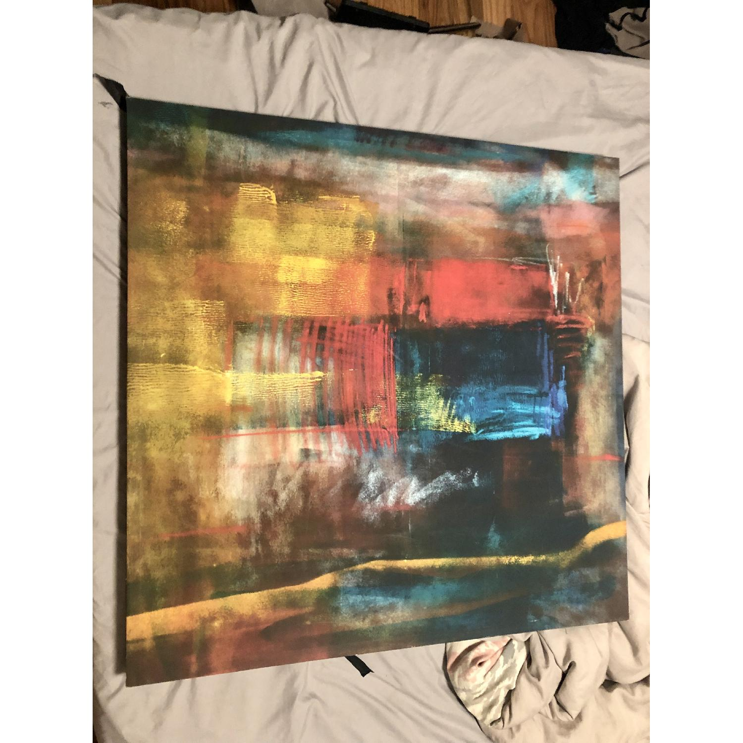 Multicolor Abstract Canvas Print - image-2