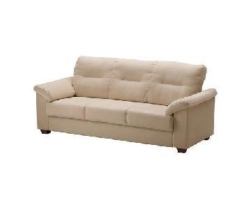 Ikea Knislinge Beige 3 Seater Sofa