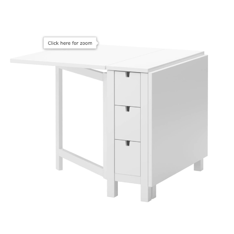 Ikea Norden White Gateleg Table - image-1