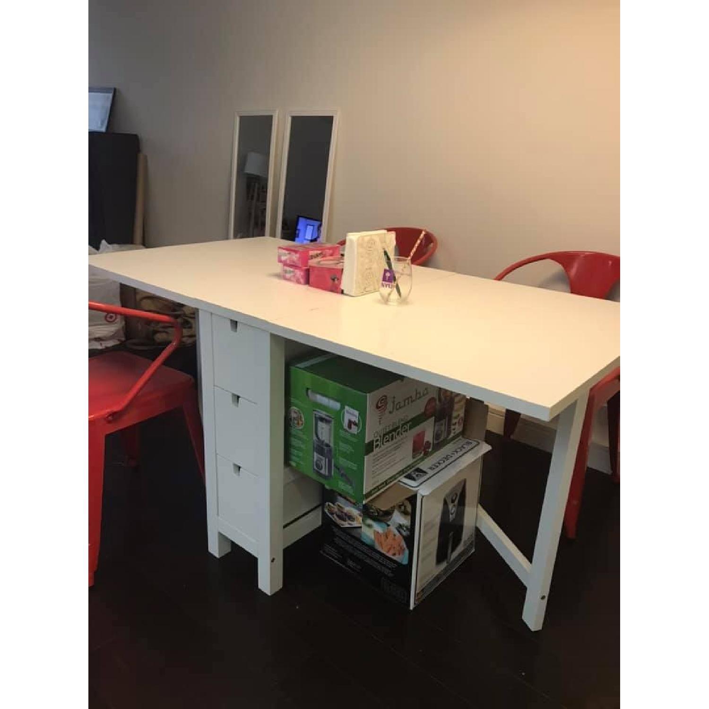 Ikea Norden White Gateleg Table - image-2